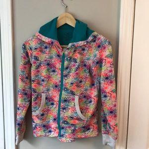 Girls Nike flower zip warmer jacket 10/12